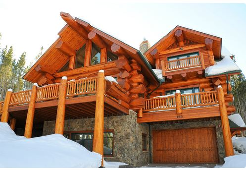 Pioneers log homes of british columbia - Maison en bois montana cutler ...